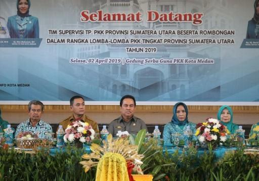 Tim TP PKK Sumut Supervisi Perwakilan Medan Ikuti Lomba HKG 2019