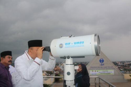 Walikota Medan Saksikan Langsung Pantauan Rukyatul Hilal Awal Ramadhan 1438 H