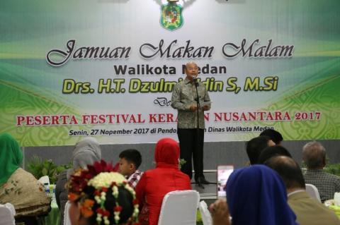Wali Kota Medan Menjamu Makan Malam Peserta Festival Keraton Nusantara