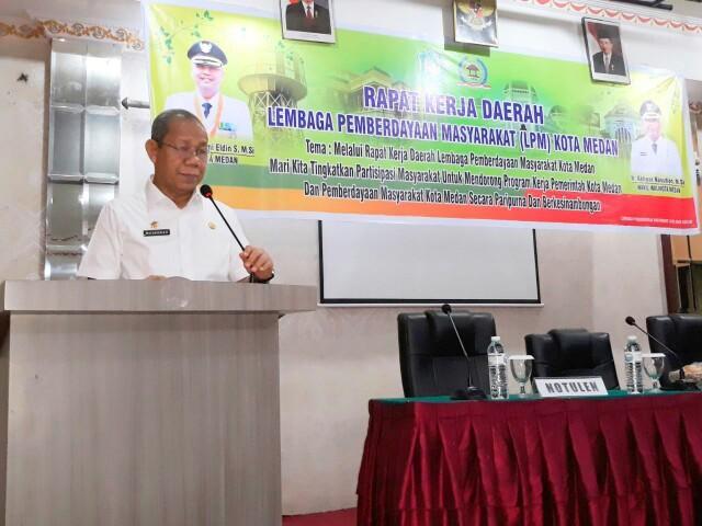 Walikota Buka Rakerda Lembaga Pemberdayaan Masyarakat Kota Medan