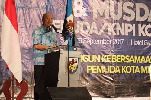 Walikota Medan Drs H T Dzulmi Eldin S, MSi Buka Musda XIII KNPI Kota Medan