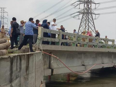 Walikota Tinjau Jembatan Titi Dua Sicanang
