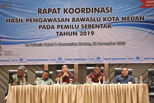 Pemko Medan Apresiasi Kinerja Bawaslu Medan Dalam Pengawasan Pelaksanaan Pemilu Serentak 2019